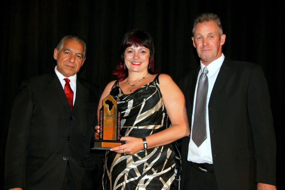 Sue Hadcroft  won the AfricaGrowth SMME Award in 2012