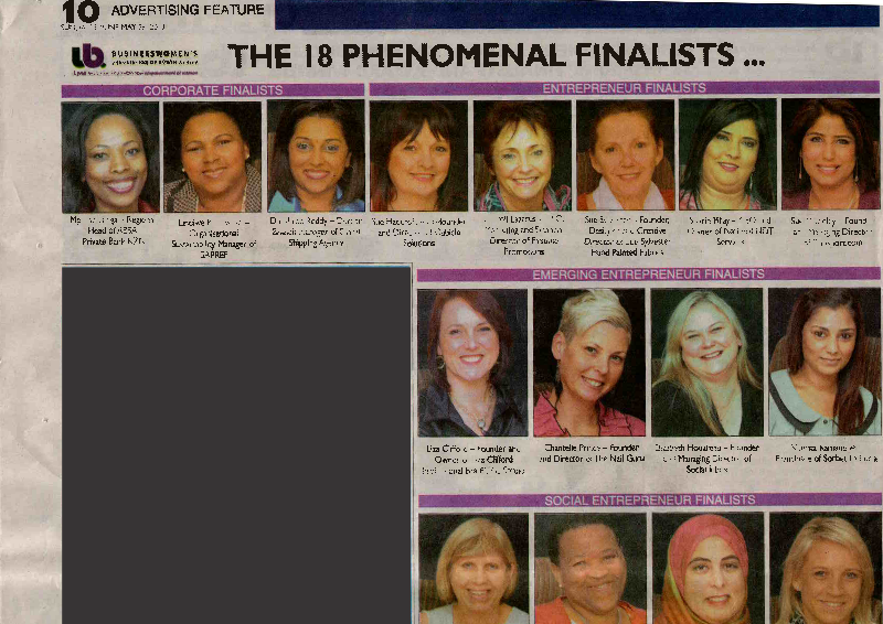 Sue Hadcroft a finalist for KZN BWA Awards